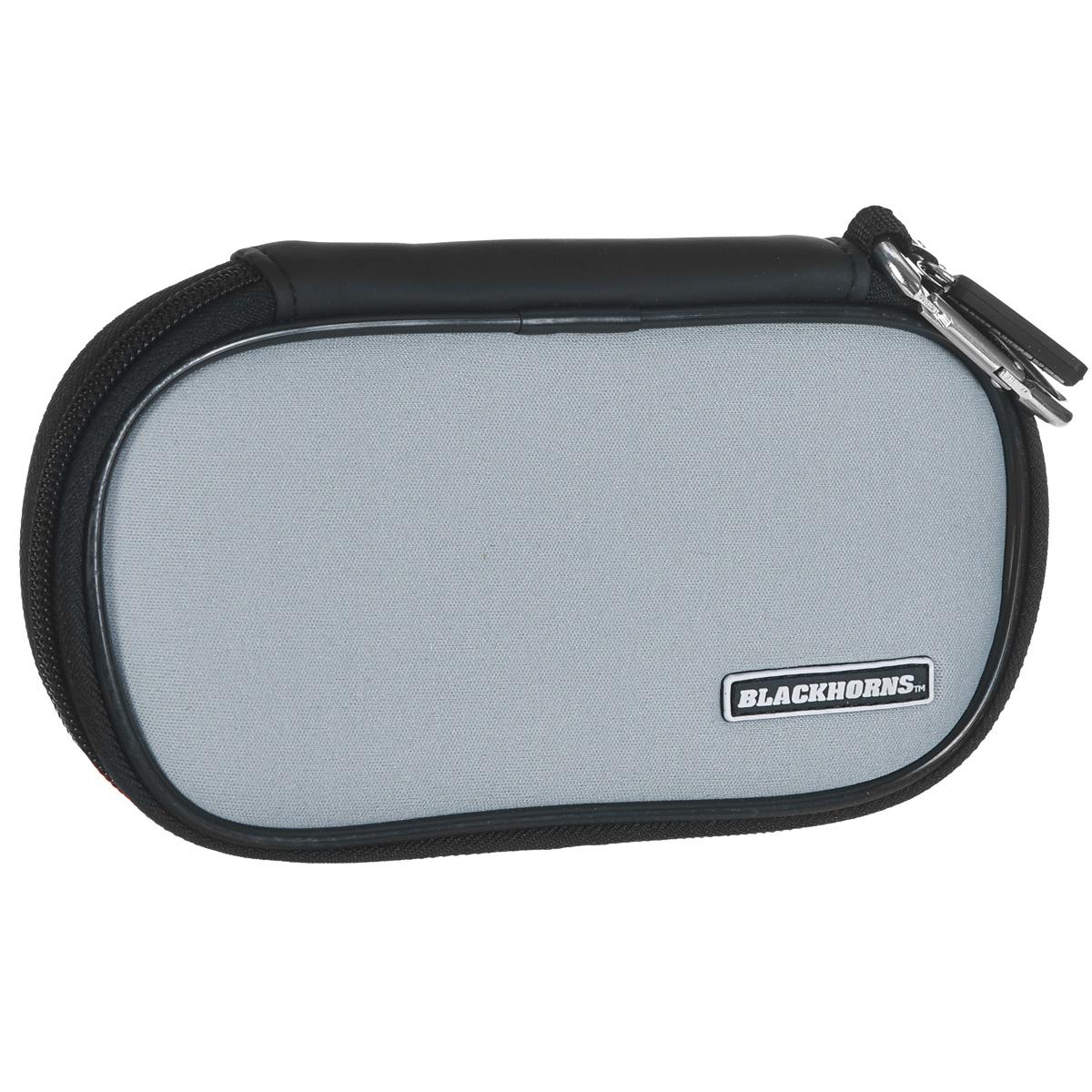 все цены на  Чехол мягкий Black Horns для Sony PSP E1000/2000/3000, серый  онлайн