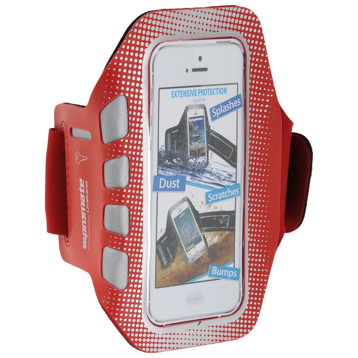 Promate Liveband чехол для iPhone 5/5s, Red
