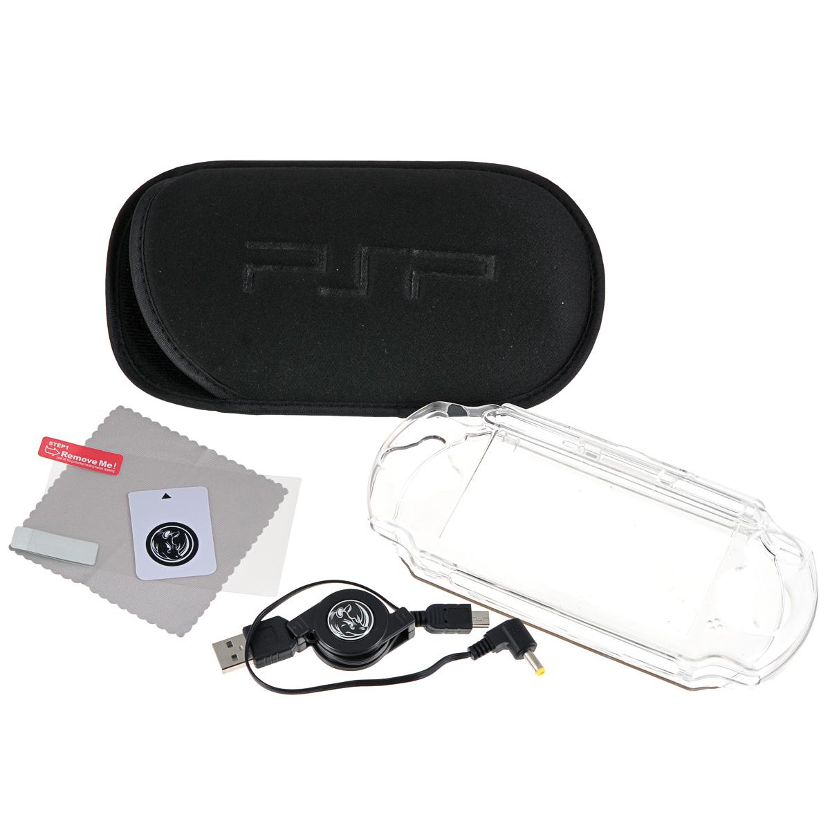 Набор 6 в 1 Black Horns для Sony PSP E1000 (BH-PSE0803(R) - Аксессуары