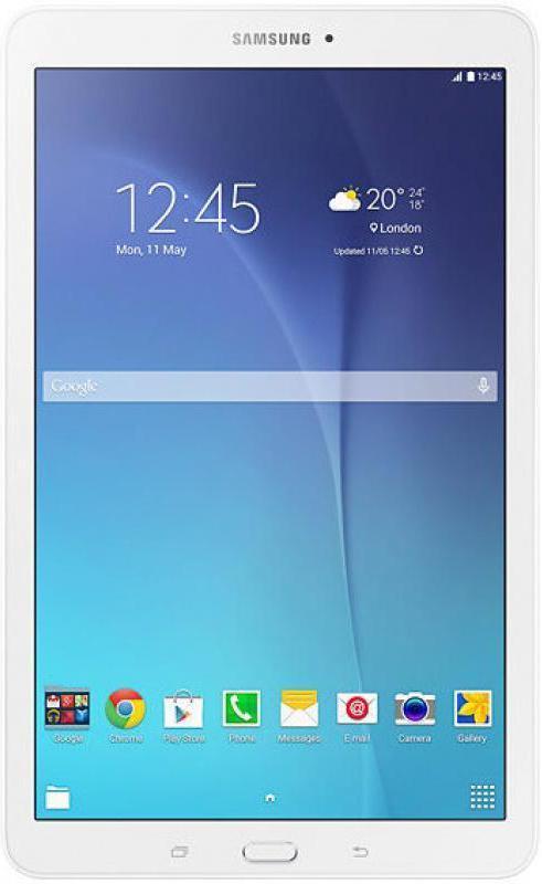 Samsung Galaxy Tab E SM-T561, WhiteSM-T561NZWASERSamsung SM-T561N Galaxy Tab E 9.6 - это планшетный компьютер с сенсорным экраном, на базе операционной системы Android . Данная модель обладает ярким и сочным 9.6-дюймовым дисплеемc поддержкой мультитач. С помощью камер на тыловой и задней стороне вы можете делать превосходные снимки, и делиться ими с друзьями через Wi-Fi или Bluetooth соединение. За начинку компьютера отвечает четырехядерный процессор с тактовой частотой 1300 МГц, оперативная память 1,5 гб и встроенная 8 гб. В сочетании с элегантным дизайном и мощностью устройства, вы без труда сможете делать все то, что хотели делать за планшетным компьютером. Просмотр фильмов, музыки или простой веб-серфинг, все это подвластно Samsung SM-T561N Galaxy Tab A 9.6. Данная модель обладает разъемом для microSD карт памяти, что навсегда позволит вам забыть о нехватке места на вашем планшете.Планшет сертифицирован Ростест и имеет русифицированный интерфейс, меню и Руководство пользователя.
