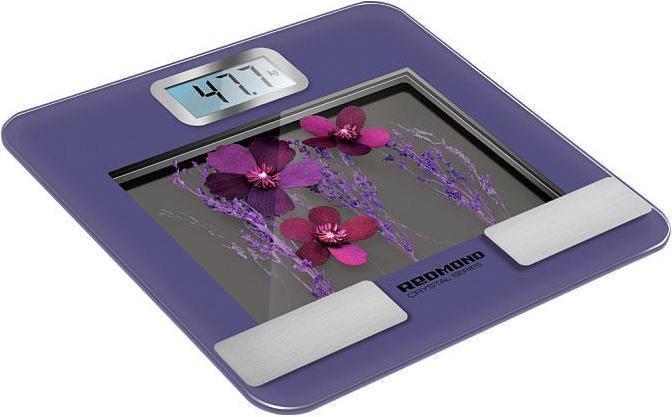 Redmond RS-730, Purple напольные весыRS-730Напольные весы Redmond RS-730 – яркая новинка с высокой точностью измерения и специальной функцией определения соотношения костной, мышечной и жировой тканей, содержания жидкости в организме, значения минимально необходимого получения энергии в день.Напольные весы Redmond RS-730 отражают рейтинг физического развития в процентах, а соответствующие показатели устройства позволяют критически оценивать динамику веса. Приятной особенностью модели является возможность хранения в памяти до 10 пользовательских профилей.Redmond RS-730 имеют прочный тонкий корпус, большой стильный ЖК-дисплей, сенсорное управление и ряд полезных базовых функций: автоматическое включение и выключение, индикация перегрузки и низкого заряда батареи, выбор единиц измерения. Вы оцените надежность и удобство!
