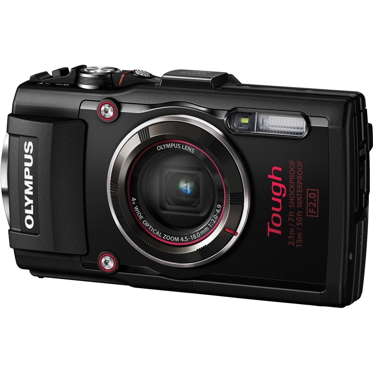 Olympus TG-4, Black цифровая фотокамераV104160BE000Будь то коралловые рифы, разломы или морская жизнь, камера Olympus TG-4 всегда с вами. Эта цифровая камера с защитой от брызг, отлично работающая на высшем уровне даже в глубинах океана. Невероятная светосила 1:2.0 высокоскоростного объектива позволяет делать захватывающие, яркие снимки моря во время дайвинга или снорклинга.Камера Olympus TG-4 всегда готова к приключениям: пересеченная гористая местность при отрицательной температуре, снег, песчаная буря, темные, густые леса. Интеллектуальная система заглушек позволяет Olympus TG-4 работать в самых экстремальных условиях в любой точке мира.Камера Olympus TG-4 достаточно мощная, чтобы запечатлеть всё, что может предложить природа. Используйте один из четырех возможных режимов макро-съемки, например, уникальный режим следящего фокуса, чтобы отразить свою креативность. Приблизьтесь на максимально близкое расстояние к насекомым, цветам и снежинкам, чтобы сфотографировать их с невероятной четкостью в стиле микроскопа.Когда вы на природе, у вас не всегда есть шанс подготовиться к съемке. Но с широким 4x оптическим зумом Olympus TG-4 вам и не придется этого делать. В сочетании со скоростным автофокусом вы можете использовать зум от 25 до 100 мм (эквив. 35 мм) и делать великолепные, четкие снимки на расстоянии. Или проявите креативность при съемке природных пейзажей.Теперь делиться снимками из путешествий проще простого - с любой горной вершины или долины. Благодаря поддержке Wi-Fi камерой Olympus TG-4 и возможностям OI.Share. Где бы вы ни были, вы можете передавать фотографии на смартфон или планшет по беспроводной связи. Или используйте свое мобильное устройство как пульт ДУ для настройки Olympus TG-4 и съемки.GPS нового поколения быстро и точно отслеживает место съемки каждого фото. Если вы хотите знать, где вы, даже если камера выключена, используйте функцию е-компас - также показывающую информацию о давлении и высоте. Установите приложение OI.Track на смартфон и добавл