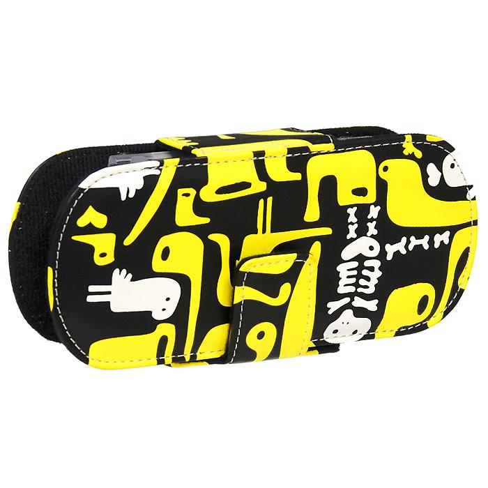 Защитный чехол Free-Style для PSP 2000/3000, черный с бело-желтым рисункомBH-PSP02208(R)_(N07-черн./желт.птички)Защитный чехол Защитный чехол Free-Style для PSP 2000/3000 имеет оригинальный графический дизайн - совершенное сочетание инноваций и традиционного подхода, эффектно подчеркнет вашу индивидуальность. Внутренняя поверхность чехла для PSP выполнена из мягкого текстиля, не царапающего лицевую панель PSP. Специально разработанная для PSP 2000/3000 система внутренних креплений защитит вашу консоль от потертостей, повреждений и падений.Система внутренних креплений позволяет открыть/закрыть UMD-привод не вынимая приставку из чехла. Специальные крепления внутри чехла надежно фиксируют PSP, обеспечивая свободный доступ ко всем кнопкам управления, USB-потру, Wi-Fi и UMD-приводу. Чехол можно использовать в качестве подставки при просмотре фильмов, картинок или при прослушивании музыки. На задней части чехла расположены два кармашка под карточки памяти.
