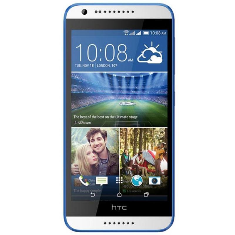 HTC Desire 620G Dual Sim, White Blue99HADC021-00Окунитесь в мир невероятной четкости изображения и высокой производительности с HTC Desire 620G dual sim. Уникальный дизайн смартфона поможет подчеркнуть вашу индивидуальность, а большой HD-дисплей, две камеры, мощный процессор и поддержка двух SIM-карт - справиться со всеми поставленными задачамиПриготовьтесь насладиться реалистичным и четким изображением, которого вы еще не видели. Смартфон оснащен 5-дюймовым HD-экраном, который воспроизводит мельчайшие детали ваших фото и видео. Дисплей отображает широкий спектр цветов и оттенков, которые максимально приближены к реальной жизни.HTC Desire 620G dual sim - действительно мощный смартфон. Его 8-ядерный процессор заслуживает самых высоких похвал. Играйте, развлекайтесь, обменивайтесь информацией, просматривайте сайты - только теперь очень быстро и с впечатляющей графикой.