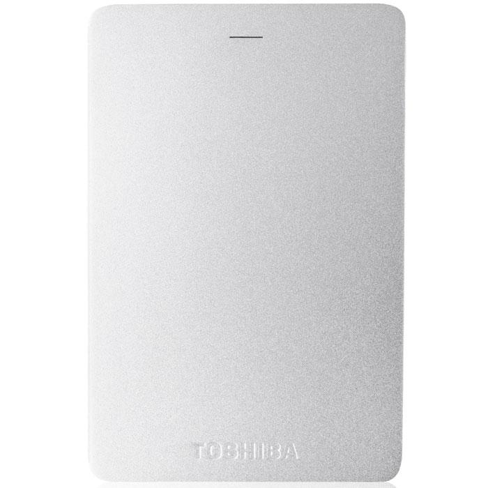 Toshiba Canvio Alu 2TB, Silver внешний жесткий диск (HDTH320ES3CA)HDTH320ES3CAХраните важные данные надежно на внешнем жестком диске Toshiba Canvio Alu! Доступ к записанной информации осуществляется быстро и легко при помощи подключения USB 3.0. С его элегантным алюминиевым корпусом в различных цветовых вариациях вы приобретаете стильное и яркое решение для хранения нужных файлов. Диск необычайно прост в использовании, встроенное программное обеспечение резервного копирования NTI позволяет делать регулярные автоматические резервные копии данных для дополнительной безопасности.