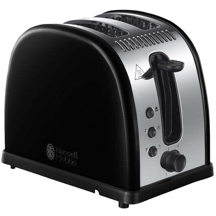 Russell Hobbs 21293-56 Legacy, Black тостер21293-56Мало времени с утра и нет возможности долго готовить любимые тосты? Вам понравится новый тостер Russell Hobbs 21293-56 Legacy с системой быстрого (до 55%) приготовления тостов. Поджаренные ломтики хлеба, так как вы их любите, будут готовы быстро и идеально. Широкие слоты позволят приготовить ломтики различной толщины или другие типы хлеба, допустим, булочки.Тостер Legacy также обладает функцией разморозки, разогрева и принудительной отмены программы приготовления.Тостер Russell Hobbs 21293-56 Legacy обладает специальным дизайном решетки для разогрева и будет прекрасным подарком для всех любителей поджаренных ломтиков. Решетка для разогрева также поможет сохранить температуру приготовленных ломтиков.Технология быстрого приготовления тостовСпециально разработанный нагревательный элемент и улучшенная форма решетки гарантируют до 55% быстрее приготовление тостов. Идеально, когда необходимо приготовить тосты, но нет времени долго ждать.Экстра широкие слотыШирокие слоты с функцией экстра-подъема - идеально для поджаривания пышек, чайного пирога, булочек или толстых ломтиков хлеба.Тостер из полированной нержавеющей стали и тиснением логотипаТехнология быстрого приготовления тостов до 55%Широкие слоты идеально подходят для приготовления ломтиков различной толщины, булочек или чайного пирогаФункции разогрева, разморозки и отмены приготовления со световой индикациейСъемный поддон для крошекРегулировка степеней поджариванияРешетка для разогрева