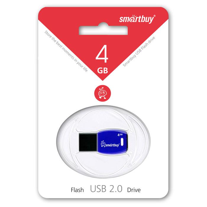 SmartBuy Cobra 4GB, Dark Blue USB-накопительSB4GBCR-DbВ цифровую эру компактный флеш-накопитель - это ключ в цифровой мир, который предлагает бесконечные возможности сохранения памятных событий. Флеш-накопитель Smartbuy Cobra, по дизайну напоминающий ключ, можно подсоединить к брелоку с другими ключами, что позволит вам всегда свои воспоминания носить с собой. Совместима с: Windows 8/7/XP/2000/Vista, Mac OS 8.6 и Linux 2.4.0 (или выше)Уникальный дизайн в виде ключаПропускная способность интерфейса: 480 Мбит/сек