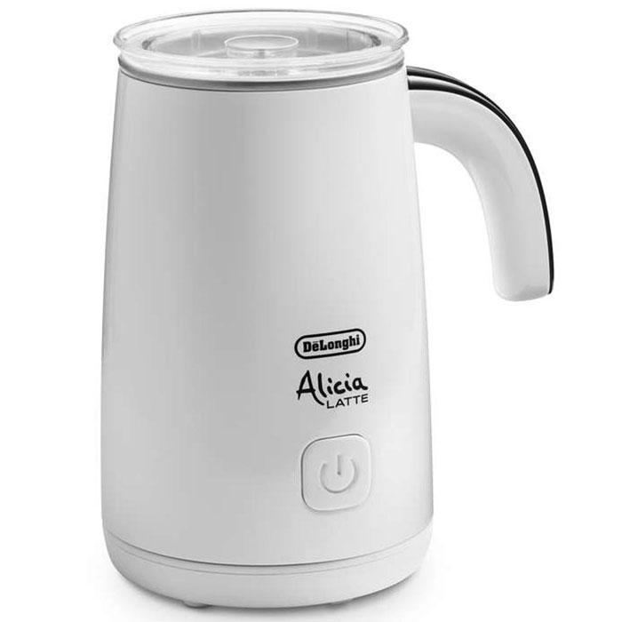 DeLonghi EMF2 Alicia, White вспениватель молокаEMF2.WНастольный электрический вспениватель молока DeLonghi EMF2 Alicia предназначен для приготовления пенки для капучино. Стильный глянцевый корпус и высокая производительность позволяют моментально приготовить совершенную молочную пену, горячую или холодную, а также подогреть молоко.Вместимость чаши для молока: мин. 100 мл, макс. 250 млКорпус: глянцевое пластиковое покрытие, подставка: матовое пластиковое покрытиеАвтоматическое выключениеМагнитный привод обеспечивает движение венчикаСъемный венчик удобно мыть Съемная прозрачная крышка с силиконовым уплотнителемПодставка позволяет вращать прибор на 360° Антипригарное покрытие чашиНапряжение/Частота переменного тока :220/240 В - 50/60 Гц