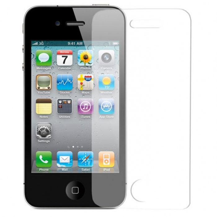 Harper SP-GL IPH4 защитное стекло для Apple iPhone 4/4SSP-GL IPH4Защитное стекло Harper SP-GL IPH4 для смартфона Apple iPhone 4/4S. Изготовлено из специально обработанного многослойного закаленного стекла прочности 9H. Олеофобное покрытие предотвратит появление следов от пальцев и сохранит чувствительность сенсора смартфона на 100%. Клеевой слой на задней поверхности позволяет легко устанавливать закаленное стекло без особых навыков.