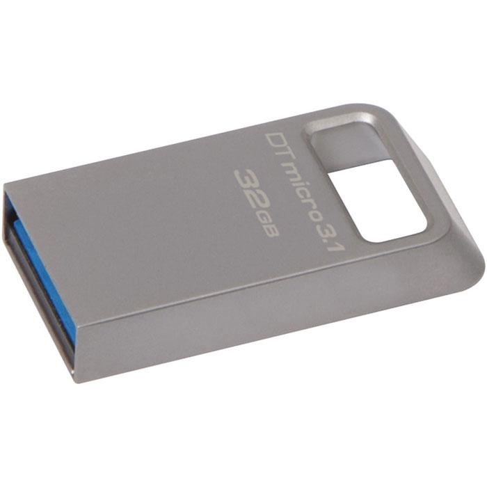 Kingston DataTraveler Micro 3.1 32GB USB-накопительDTMC3/32GBKingston DataTraveler Micro 3.1 - это сверхкомпактный и легкий USB-накопитель без колпачка, поддерживающий высокую скорость интерфейса USB 3.1 (до 100 МБ/с для чтения и до 15 МБ/с для записи). Он имеет настолькокомпактные размеры, что его можно оставить подключенным к ноутбуку, даже когда вы его не используете. Кроме того, накопитель имеет прочное кольцо для брелоков. С помощью этого устройства с автоматической настройкой конфигурации вы сможете хранить до 32 ГБ музыки, фильмов, файлов и других данных. Он идеально подходитдля использования с планшетами, ноутбуками, автомобильными стереосистемами и телевизорами. Накопитель может работать в температурном диапазоне от 0°C до 60°C, а храниться при температуре от -20°C до 85°C.Поддержка ОС: Windows 8.1, Windows 8, Windows 7, Windows Vista, Linux, ChromeOS, Mac OS X 10.7 и выше