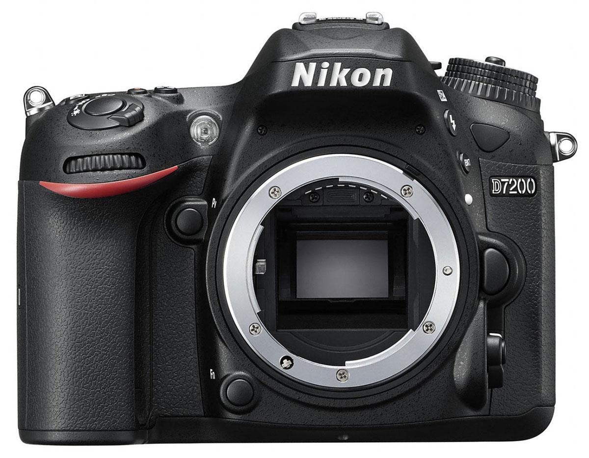 Nikon D7200 Body, Black цифровая зеркальная фотокамераVBA450AEСовершенствуйте искусство фотографии с инновационной фотокамерой Nikon D7200. Эта цифровая зеркальная фотокамера формата DX гарантирует получение превосходных резких изображений и видео в отличном качестве, а также предоставляет все возможности для связи. Nikon D7200 - универсальная модель с быстрым откликом, которая превосходит любые ожидания.Реальность превосходит ожиданияНевероятная детализация изображений с 24,2-мегапиксельной матрицей: создавайте фотографии с совершенно новым уровнем качества. Фотокамера D7200 оснащена матрицей формата DX с разрешением 24,2 мегапикселя, в конструкции которой не используется оптический низкочастотный фильтр (OLPF), что позволяет в полной мере реализовать потенциал матрицы для создания неизменно резких изображений в широком динамическом диапазоне, с низким уровнем шума и насыщенными цветами.АФ профессионального уровняБлагодаря лучшей в своем классе системе АФ фотокамера D7200 фокусируется с невероятной точностью. Чувствительность, сохраняющаяся до -3 EV, позволяет выполнить «захват» объекта даже в условиях недостаточного освещения.Создавайте четкие и детализированные снимки при высоких значениях чувствительности ISO. Используя стандартный диапазон 100-25 600 единиц ISO, можно без труда выполнять съемку при обычном освещении. Снимайте яркие эпизоды без малейших усилий. Легкая фотокамера D7200, оснащенная набором функций видео, которые используются в профессиональных фотокамерах Nikon, идеально подойдет тем, кто увлекается видеосъемкой.Поделитесь своим видениемВстроенная поддержка технологий Wi-Fi и NFC (беспроводной связи ближнего радиуса действия) упрощает передачу впечатляющих снимков через интеллектуальное устройство.Прочность и долговечностьКорпус фотокамеры имеет защиту от пыли, брызг и непогоды, так что эту фотокамеру можно использовать для съемки в самых неблагоприятных условиях. При изготовлении верхней и задней крышки корпуса применен магниевый сплав, повышающи
