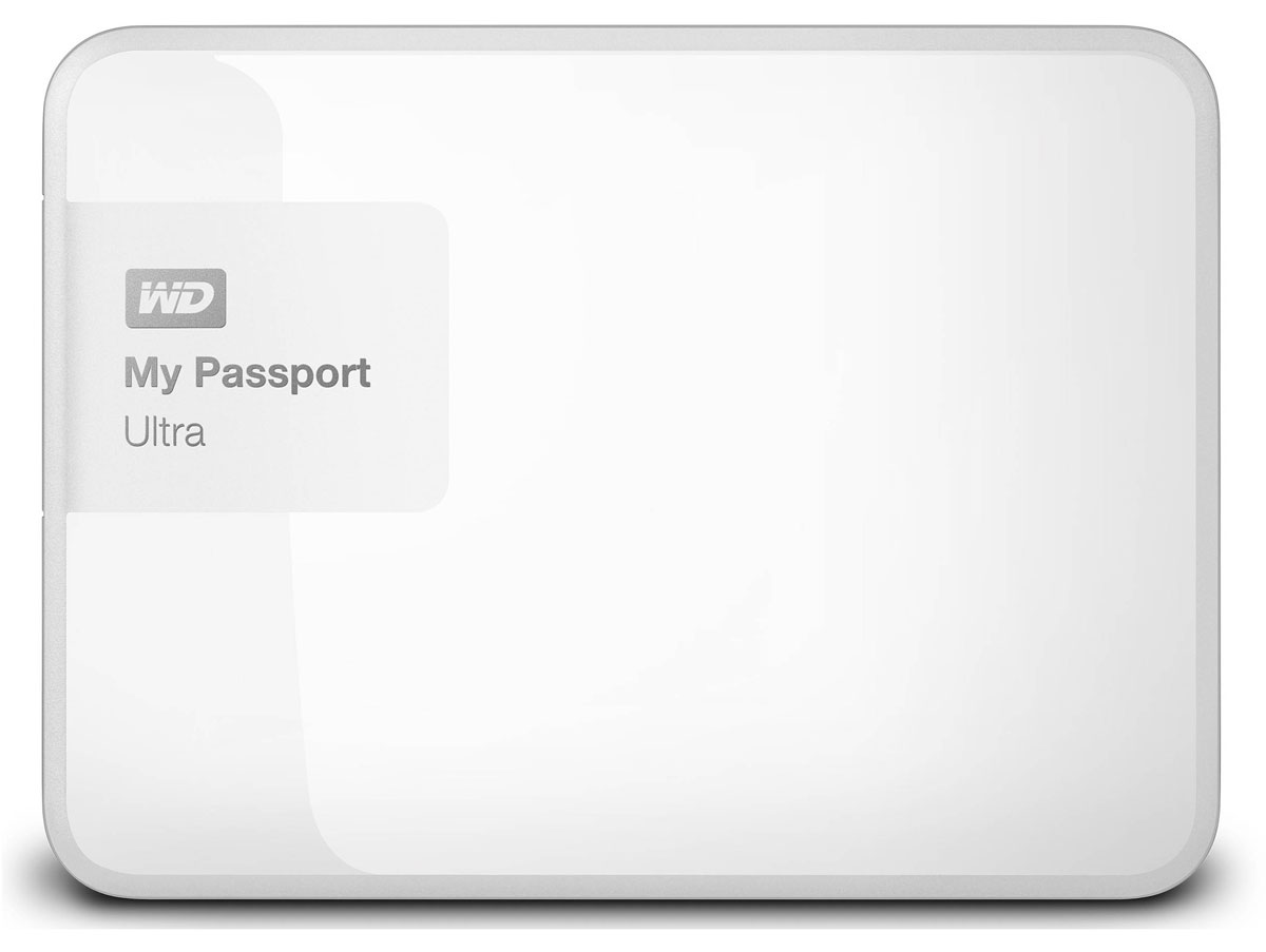 WD My Passport Ultra 500GB, White внешний жесткий диск (WDBBRL5000AWT-EEUE) - Носители информации