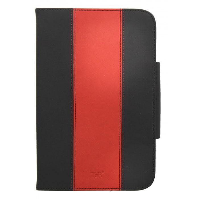 TNB TAB7MAG1 чехол для планшета 7, Black RedTAB7MAG1TNB TAB7MAG1 - универсальный чехол для планшетов с диагональю до 7. Это стильный и лаконичный аксессуар, позволяющий сохранить планшет в идеальном состоянии. Надежно удерживая технику, обложка защищает корпус и дисплей от появления царапин, налипания пыли. Также чехол можно использовать как подставку для чтения или просмотра фильмов. Имеет свободный доступ ко всем разъемам устройства.