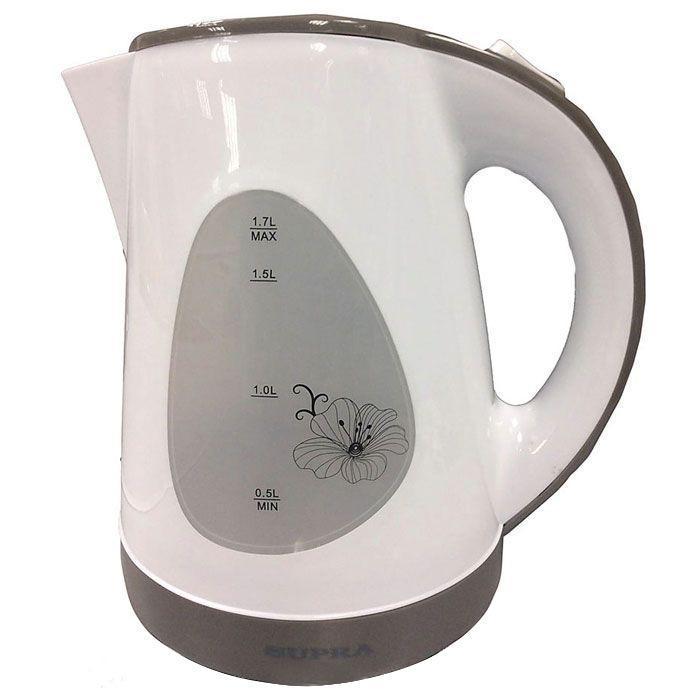 Supra KES-1708, White Grey электрический чайник supra kes 1723 white grey