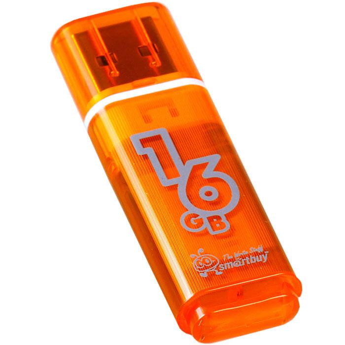 SmartBuy Glossy Series 16GB, Orange USB-накопительSB16GBGS-OrКорпус USB-накопителя SmartBuy Glossy Series 16GB сделан из прозрачного пластика с белой полоской, проходящей между корпусом и колпачком. Glossy оборудован специальной системой для крепления колпачка - с помощью скобки он фиксируется между двумя выступающими пластинками на устройстве. Это очень удобно и минимизирует вероятность потери защитного колпачка. За эту же скобку устройство можно прикрепить к шнурку, чтобы накопитель всегда был под рукой.Пропускная способность интерфейса: 480 Мбит/секСовместим с: Windows 7, Windows 8, Windows Vista, Windows XP, Windows 2000, Linux, MAC OS X