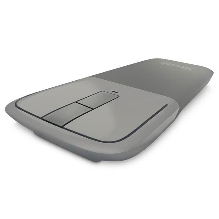 Microsoft Arc Touch Bluetooth Mouse, Grey беспроводная мышь (7MP-00005)7MP-00005Дизайн Microsoft Arc Touch Bluetooth Mouse стал еще лучше для работающих в поездке. В него добавлено низкое энергопотребление, ставшее возможным благодаря Bluetooth 4.01. Это надежная мышь, работающая без помех на расстоянии до 9 метров. В ней используется новейшая технология Bluetooth, потребляющая меньше энергии.И, как и оригинальная, мышь Microsoft Arc Touch Bluetooth Mouse сгибается для включения и становится плоской для выключения. Комфортная и переносная, принимающая форму вашей руки, она идеально подходит для мобильного образа жизни. Сенсорная полоска точно отвечает на скорость движения пальца, используя тактильную обратную связь для вертикальной прокрутки.Bluetrack Technology сочетает мощность оптического датчика с точностью лазерного. Это обеспечивает идеальное позиционирование мыши практически на любой поверхности 2. Благодаря BlueTrack Technology эта мышь может использоваться даже на деревянной поверхности или ковре.