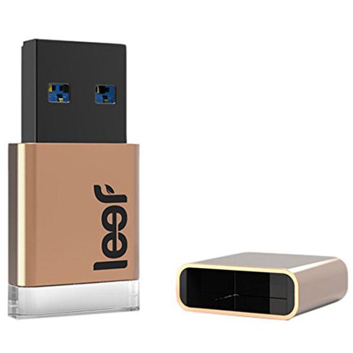 Leef Magnet 3.0 32GB, Copper USB-накопитель leef bridge lfbri 032gkr 32gb usb microusb black