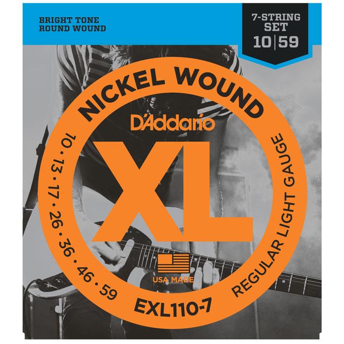 D'Addario EXL110-7 Nickel Wound струны для электрогитары - Гитарные аксессуары и оборудование