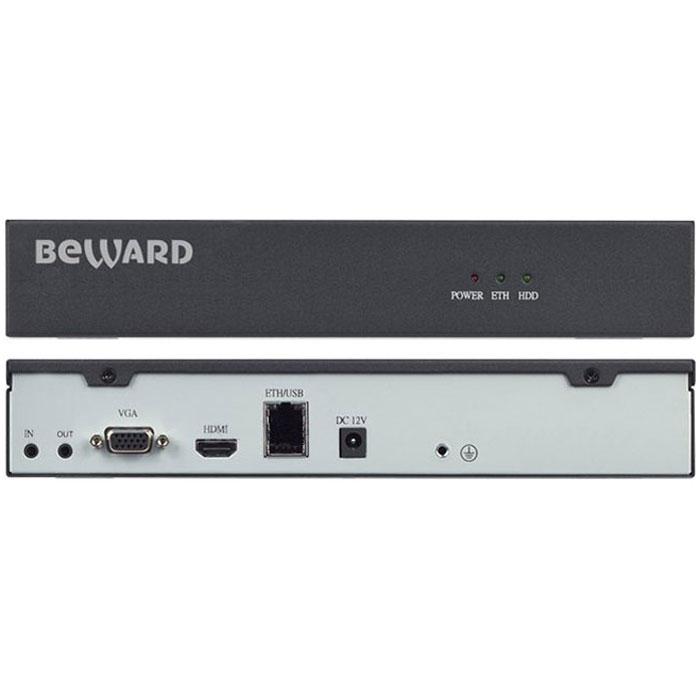 Beward BS1112, Black IP видеорегистраторBS111212-канальный IP-видеорегистратор Beward BS1112 – это оптимальное решение для записи с IP-камер Beward в формате H.264 с разрешением до 2 Мп либо с любых IP-камер, поддерживающих протокол ONVIF. Запись информации производится на жесткий диск, подключенный через SATA-интерфейс, а просмотр – удаленно, по сети, через веб-интерфейс на подключенном VGA- или HDMI-мониторе. Beward BS1112 обладает высокой производительностью, функционируя при этом в режиме pentaplex. Это позволяет одновременно вести наблюдение, запись, просмотр архива, резервное копирование и работу в сети. Предустановленная ОС Linux обеспечивает надежность работы системы видеонаблюдения в целом. Регистратор отлично вписывается в любой интерьер благодаря компактным размерам и эстетичному виду.Запись с IP-камерBeward BS1112 можно подключать одновременно до 12 IP-камер. При этом доступна запись с разрешением до Full HD (2 Мп) с 9 каналов одновременно либо с разрешением HD – с 12 каналов. IP-видеорегистратор поддерживает различные режимы записи: непрерывно, по событию или по расписанию.Хранение и поиск видеоДля любой из подключенных IP-камер можно быстро найти записанную информацию. Поиск осуществляется в архиве по времени, тревоге либо детекции движения. IP-видеорегистратор поддерживает различные режимы воспроизведения, что особенно удобно при работе оператора.УправлениеУправление Beward BS1112 осуществляется через веб-интерфейс или с помощью подключенного монитора. Для BS1112 доступно воспроизведение архивных видеозаписей с 4 IP-камер одновременно. Реакция на тревожные событияПри наступлении тревожного события на подключенной IP-камере, Beward BS1112 начинает запись и совершает отправку уведомления. Контроль утраты сигнала видеоустройства позволяет видеорегистратору организовать отправку уведомления на e-mail или FTP, а также отобразить всплывающее окно на мониторе оператора.Режим воспроизведения:Замедленное воспроизведение вперед, Ускоренное воспроизведение по оп
