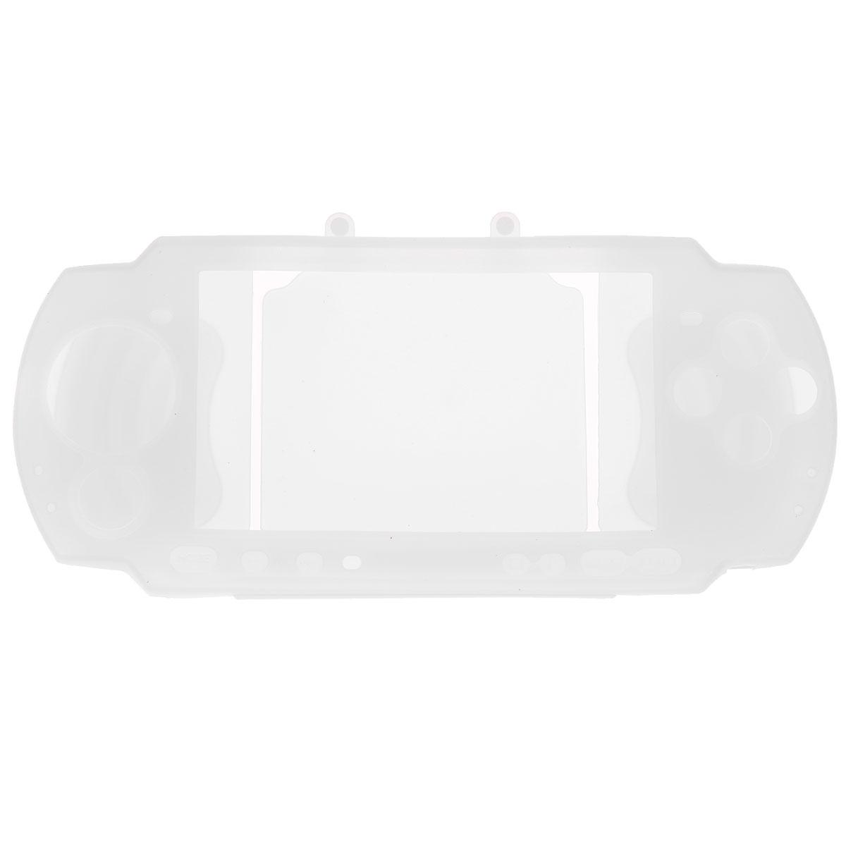 Силиконовый чехол Game Guru Silicon Case для PSP 3000 (белый)