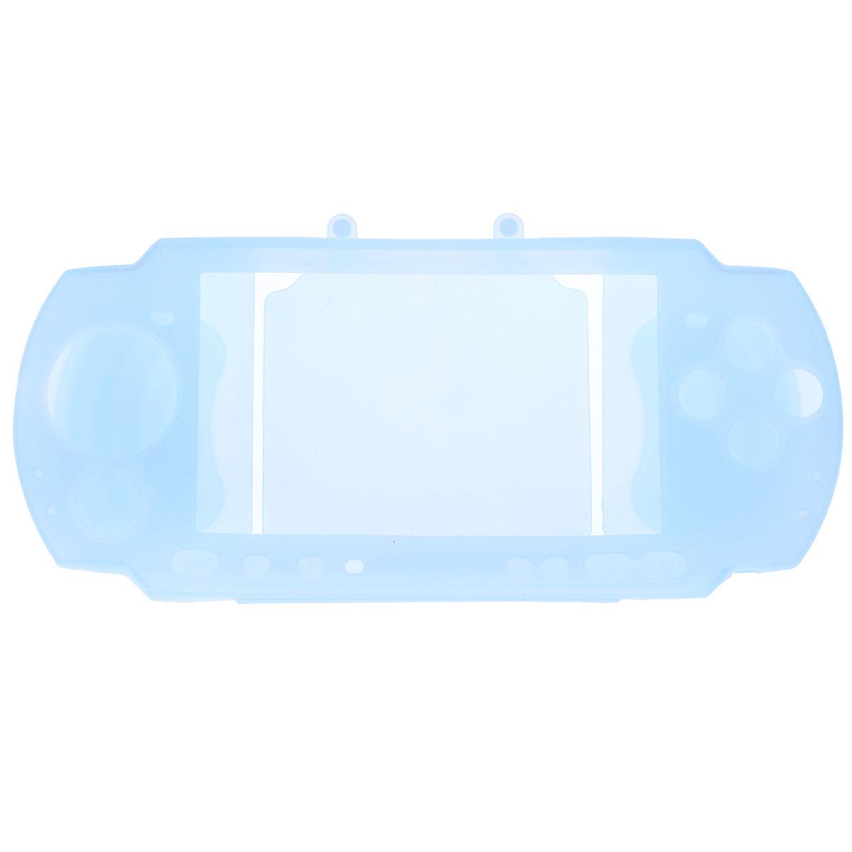 Силиконовый чехол Game Guru Silicon Case для PSP 3000 (голубой)