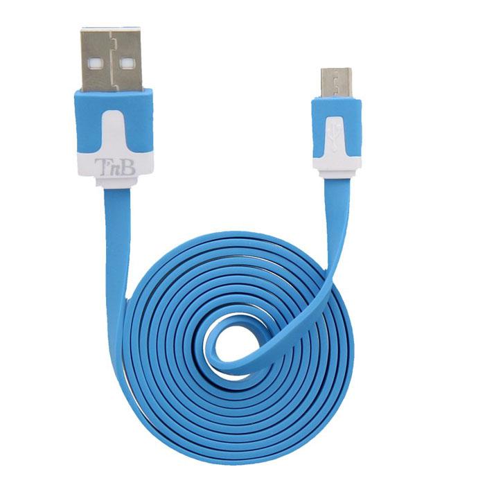 TNB CBFLAT1BL, Blue micro-USB кабельCBFLAT1BLTNB CBFLAT1BL - плоский кабель micro-USB для подзарядки вашего мобильного устройства и его синхронизации с ПК.