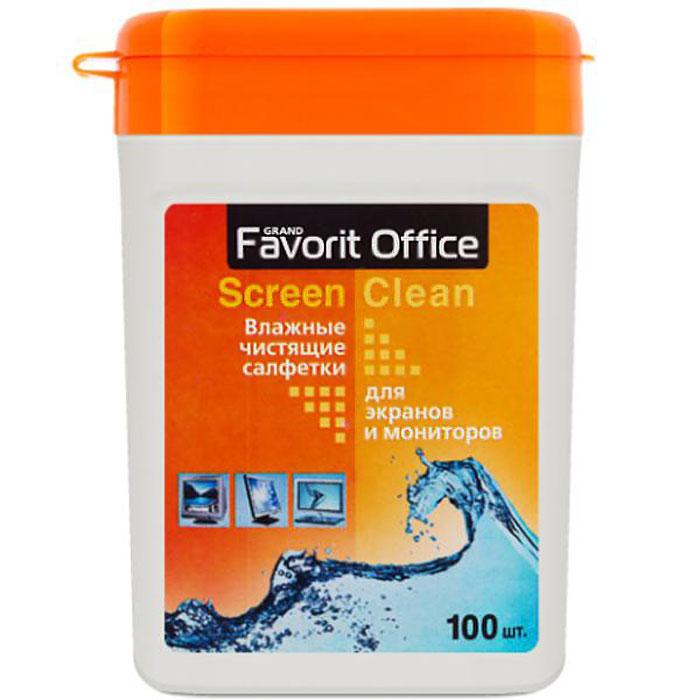 Favorit Office влажные салфетки для экранов TFT, 100 штF130002Салфетки Favorit Office изготовлены из нетканого материала и пропитаны специальной чистящей композицией, которая эффективно удаляет пыль и различные загрязнения с экранов TFT. Салфетки обладают также антистатическим и дезинфицирующим эффектами.