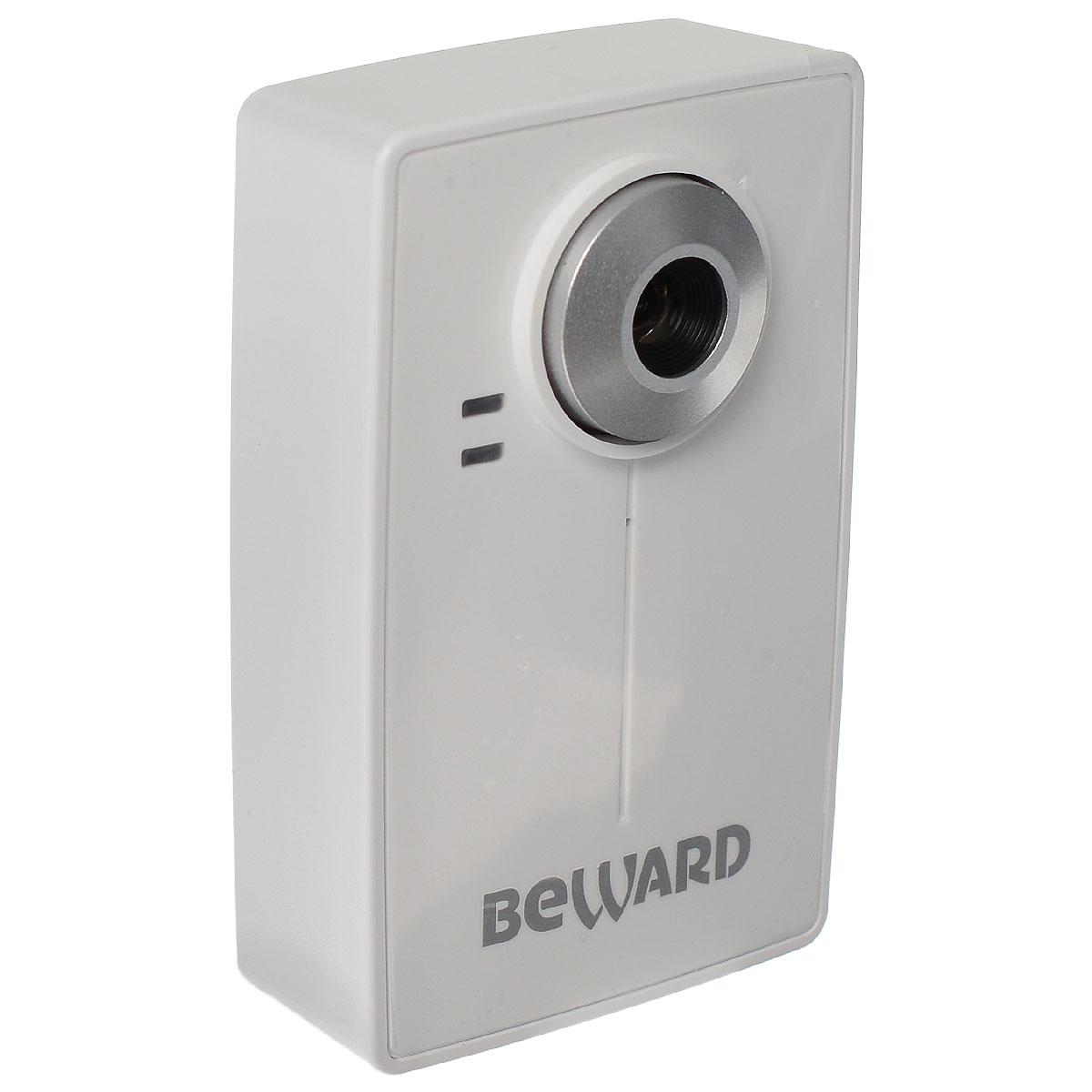Beward N13103, White IP-камераN13103Фиксированная мегапиксельная сетевая IP-камера Beward N13103 со встроенным Wi-Fi модулем идеально подходит для эксплуатации на объектах, где прокладка кабельных сетей затруднена или невозможна. Поддержка WPA/WEP шифрования обеспечивает конфиденциальность передаваемых данных с камеры. Благодаря поддержке протокола 3GPP, оптимизированного под низкоскоростные сети, просмотр видео в реальном времени возможен с мобильных устройств. Для записи данных видеокамера может использовать удаленное файловое хранилище или карту памяти SD/SDHC объемом до 32 ГБ.Область примененияКомпактная IP-камера Beward N13103 со встроенным микрофоном и 10-кратным цифровым увеличением оптимально подходит для установки в помещениях и может использоваться в системах видеоконференций, удаленного мониторинга и видеонаблюдения. В качестве примера использования можно привести установку и организацию систем безопасности внутри жилых и рабочих зданий, офисных помещений, в учебных центрах, квартирах, коттеджах.Запись на внешние носители информацииBeward N13103 располагает расширенными возможностями для хранения данных. Камера поддерживает запись тревожных видеопоследовательностей или отправку уведомлений не только на FTP, электронную почту и в локальные папки, но и на удаленный файловый сервер хранения данных. В качестве такого сервера можно использовать как специализированное NAS хранилище, так и самостоятельно организованное на базе ОС Windows или Linux. В случае разрыва связи с удаленным файловым хранилищем запись может быть продолжена на сменную карту памяти формата SD/SDHC объемом до 32 ГБ.Работа в сетиBeward N13103 предназначена для работы в сети. При этом IP-камера поддерживает возможность как проводного подключения по кабелю Ethernet, так и беспроводного по Wi-Fi со скоростью передачи данных до 150 Мбит/с (в режиме 802.11 n). Получить доступ к видео с IP-камеры в реальном времени можно не только со стационарного компьютера, подключенного к сети, но и с 3GPP-совм