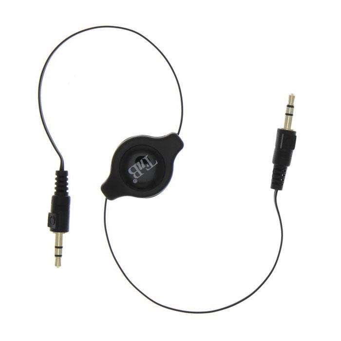TNB Jack 3.5/3.5 выдвижной кабельTBJACK1TNB Jack 3.5/3.5 - выдвижной аудиокабель-рулетка, который позволит слушать музыку с вашего смартфона или MP3-плеера через акустическую систему автомобиля. Для этого нужно соединить его, с одной стороны, со смартфоном или MP3 плеером, а с другой вставить в разъем 3,5 мм в автомобиле.