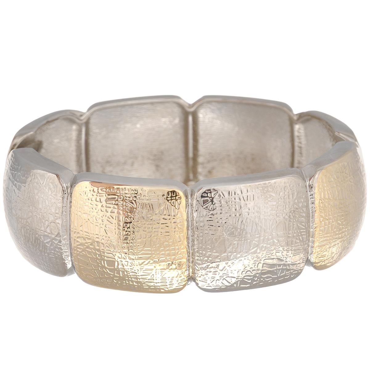 Браслет Taya, цвет: серебристый, золотистый. T-B-7050Браслет с подвескамиСтильный женский браслет Taya, выполненный из металла, оформлен рельефным узором. Застегивается изделие на шарнирный замок.С таким модным ярким аксессуаром вы сможете каждый день экспериментировать со своим образом, привнося в него новые краски и настроение.