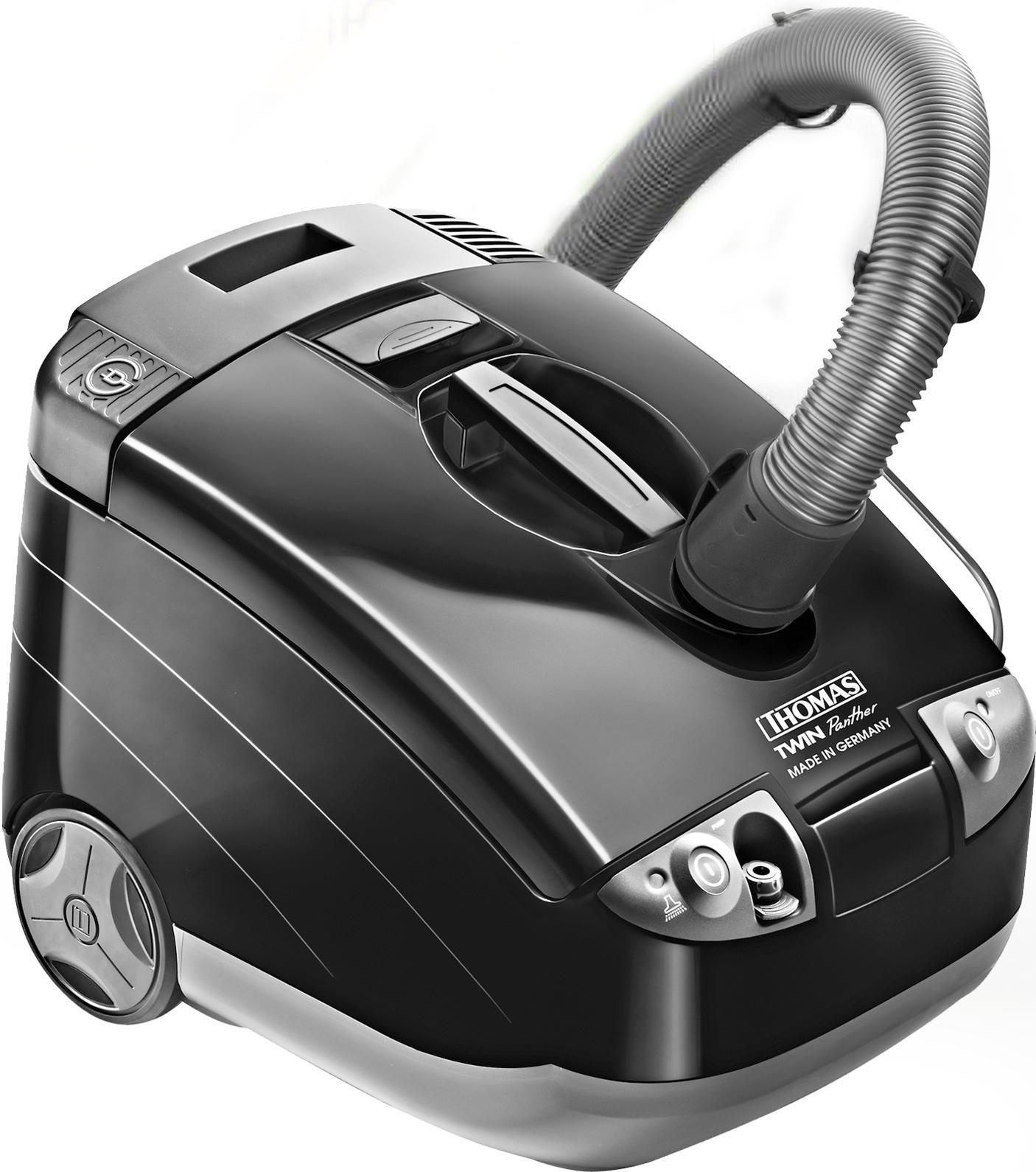 Thomas 788558 Twin Panther пылесос788558 TWIN PANTHERThomas 788558 Twin Panther - компактный и стильный моющий пылесос, который разработан специально для тех, кто предпочитает традиционный способ сухой уборки - с мешком для пыли. Для этого вместо аквафильтра пылесос оснащеночень вместительным мешком MicroPor (размер XXL).