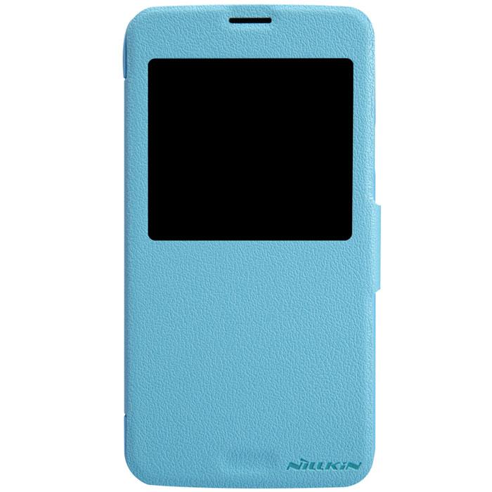 Nillkin Fresh Series Leather Case чехол для Samsung Galaxy S5, BlueT-N-SG900-001Чехол Nillkin Fresh Series Leather Case сделан из высококачественного поликарбоната и экокожи. Он надежно фиксирует и защищает смартфон при падении. Обеспечивает свободный доступ ко всем разъемам и элементам управления.Уникальный дизайн чехла с окном для экрана, в котором отображаются все важные иконки. Нет необходимости открывать чехол для того, чтобы установить время, выбрать музыку, сделать фото, ответить на звонок или прочитать сообщение.
