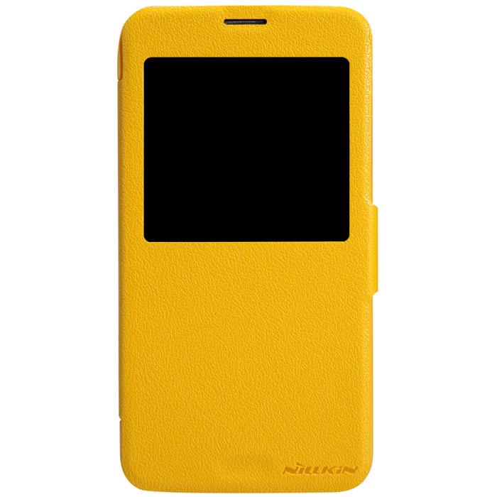 Nillkin Fresh Series Leather Case чехол для Samsung Galaxy S5, YellowT-N-SG900-001Чехол Nillkin Fresh Series Leather Case сделан из высококачественного поликарбоната и экокожи. Он надежно фиксирует и защищает смартфон при падении. Обеспечивает свободный доступ ко всем разъемам и элементам управления.Уникальный дизайн чехла с окном для экрана, в котором отображаются все важные иконки. Нет необходимости открывать чехол для того, чтобы установить время, выбрать музыку, сделать фото, ответить на звонок или прочитать сообщение.
