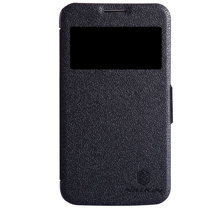 Nillkin Fresh Series Leather Case чехол для Samsung I8580, Black nillkin fresh series leather case чехол для htc one max black