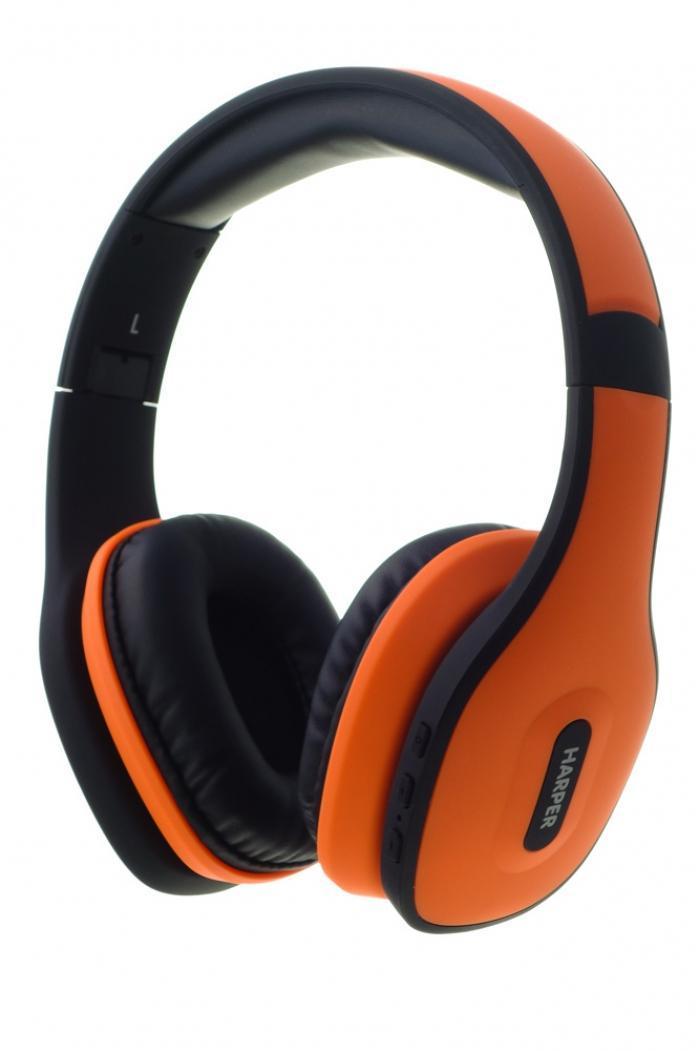 Harper HB-401, Orange беспроводные наушникиHB-401 OrangeВеликолепный стильный дизайн HarperHB-401 не только прекрасно выглядит, но и, благодаря использованию качественных материалов, очень надежен и прочен. Приятные мягкие амбушюры и оголовье не сильно давят на уши и обеспечивают отличный уровень комфорта. Наушники HarperHB-401 снабжены высококачественными динамиками, которые прекрасно справляются с воспроизведением музыки даже в очень высоком качестве. Bluetooth версии 4.0 обеспечивает прекрасное качество соединения и скорость передачи данных, что позволяет добиться великолепного качества звука.