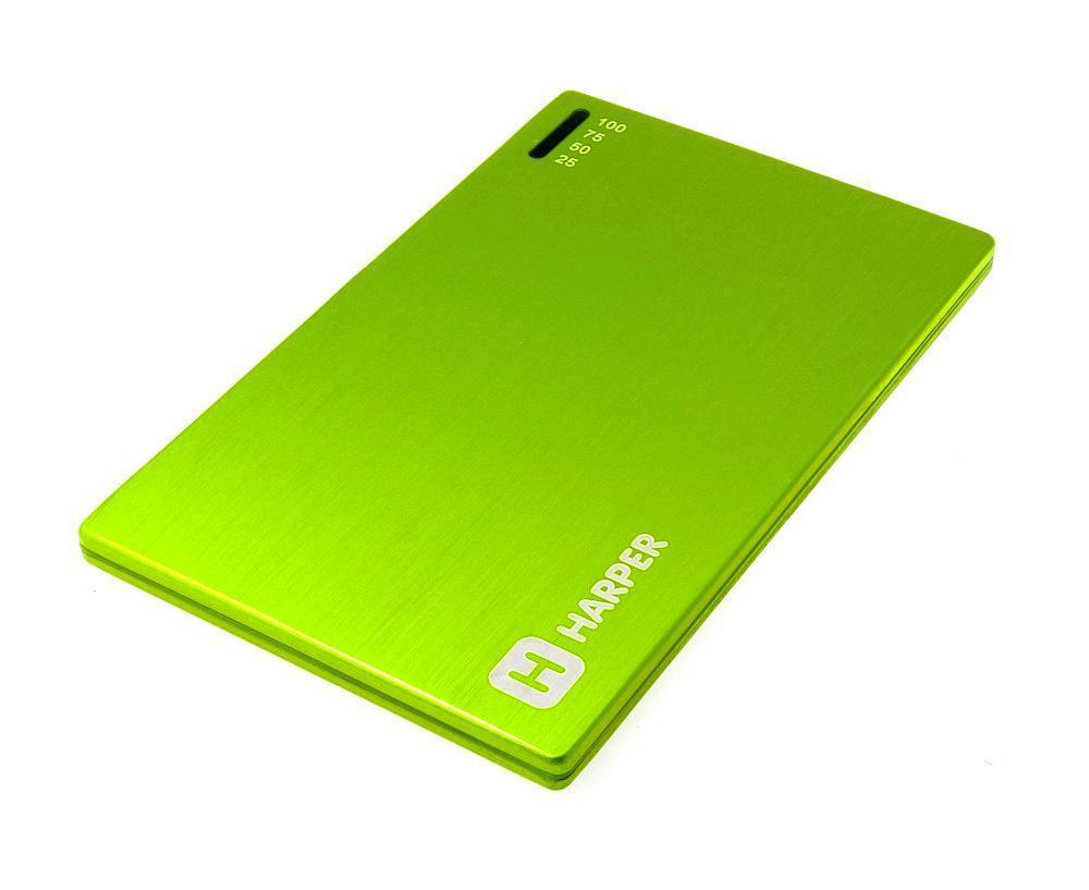 Harper PB-2000, Lime внешний аккумуляторPB-2000 limeУникальность модели заключается в сочетании компактных размерах и довольно большой емкости батареи аккумулятора. Толщина аккумулятора составляет всего 4,5 миллиметра. Легко умещается в заднем кармане брюк или даже в бумажнике. При этом объем заряда 2000 мАч. Этого достаточно для того чтобы полностью зарядить батарею большинства популярных среди пользователей смартфонов. А любители активного пользования мобильных устройств подтвердят, как важно иметь возможность вовремя подзарядить телефон.