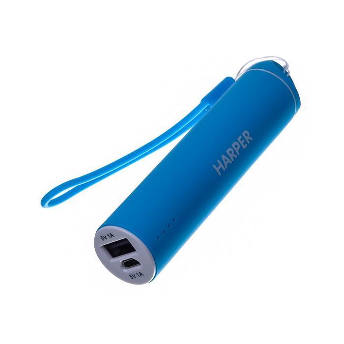 Harper PB-2602, Blue внешний аккумуляторPB-2602 BlueБудь легким и ярким!Для молодых и энергичных представлен большой выбор вариантов дизайна и ярких цветов для активной жизни.Компактные размеры Harper PB-2602 позволяют без труда носить его как оригинальный аксессуар на сумке или рюкзаке. Размеры аккумулятора существенно меньше размеров стандартного смартфона. При этом, аккумулятор способен полностью зарядить мобильный телефон или смартфон.