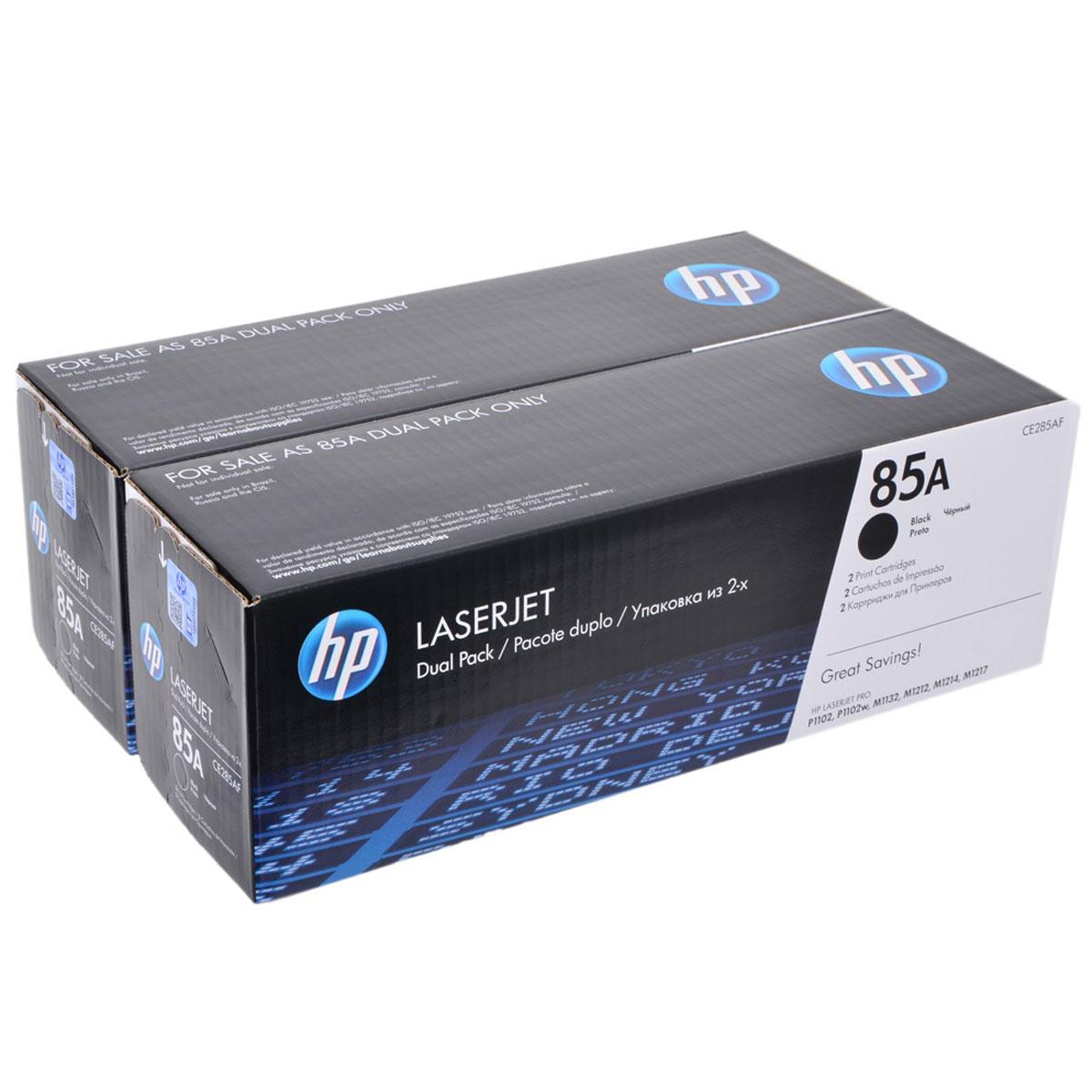 HP CE285AF, Black картридж для LaserJetCE285AFУпаковка из 2 оригинальных лазерных картриджей HP CE285AF позволяет печатать и экономить больше. Получите профессиональное качество
