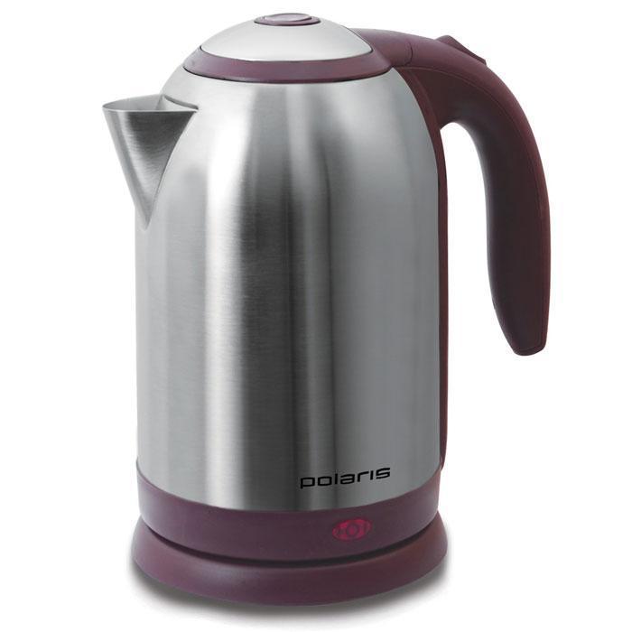 Polaris PWK 1864CA, Vinous Silver электрический чайникPWK 1864CAЭлектрический чайник Polaris PWK 1864CA отвечает всем современным требованиям. Он обеспечивает быстрый нагрев воды - за счет мощности 2200 Вт вы получаете кипяток за считанные минуты. Кроме того, данная модель отличается нестандартным объемом - 1, 8 литров, что позволит сделать чай для большой компании. Корпус чайника и внутренняя часть крышки изготовлены из высококачественной нержавеющей стали. Данная модель, помимо прочего, оснащен безопасным стальным фильтром для очистки воды, который препятствует попаданию накипи и различных механических примесей в ваш напиток. Шкала уровня воды поможет определить, когда нужно добавить воду. Обратите внимание на широкий носик, благодаря чему вы можете заливать воду, не открывая крышку. Для хранения шнура предусмотрен специальный отсек.