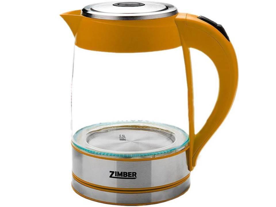 Zimber ZM-10819 электрический чайникZM-10819Электрический чайник Zimber ZM-10819 является прекрасным решением для тех, кто любит устраивать себе перерывы в работе на чашечку чая или кофе. Он прост в управлении и долговечен в использовании. Чайник автоматически выключается при закипании.