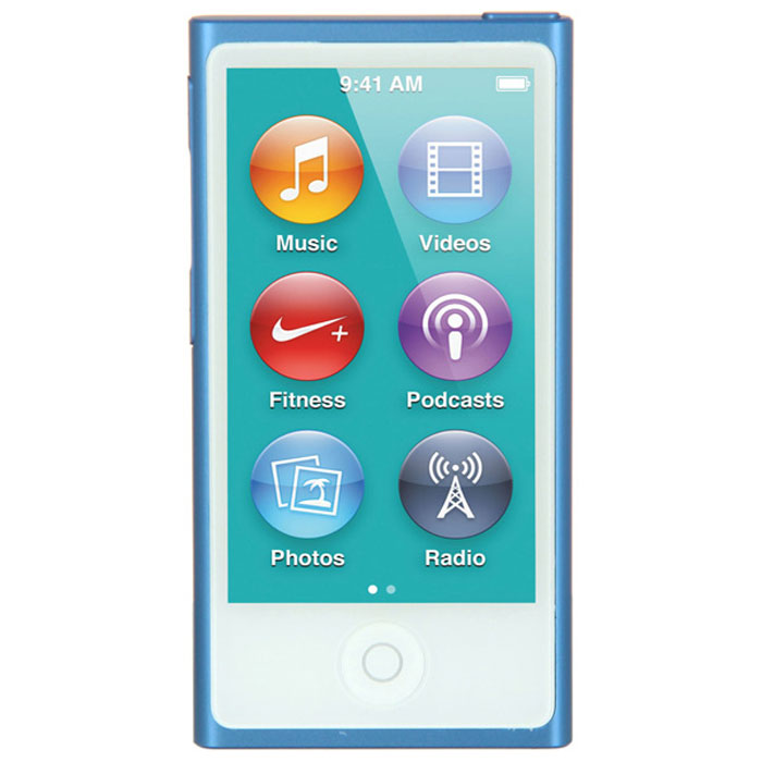Apple iPod nano 16 GB (7 Gen), Blue MP3-плеер