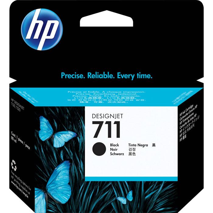 HP 711 (CZ133A), Black струйный картридж для T120/T520CZ133AКартридж HP 711 емкостью 80 мл с черными чернилами обеспечивает великолепную печать. Четкие линии в сочетании с быстрым высыханием и стойкостью фотографий к смазыванию. Оригинальные чернила HP разработаны и протестированы вместе с принтерами для обеспечения стабильных результатов.