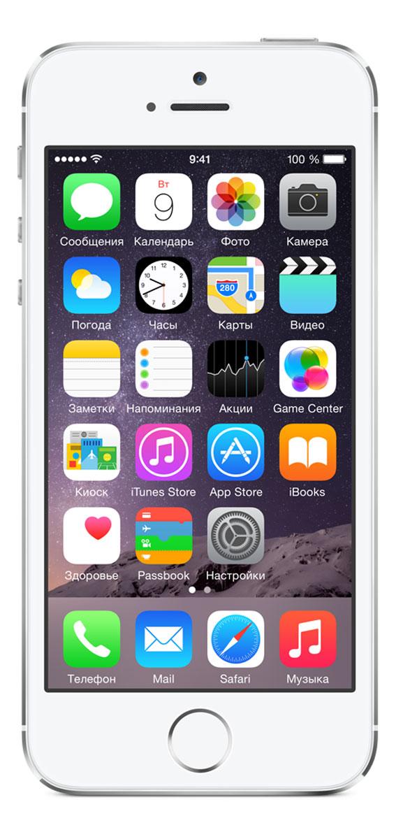 Apple iPhone 5s 16GB, Silver - Смартфоны