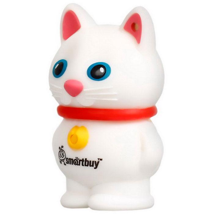 SmartBuy Wild Series Catty, White 16GB USB-накопительSB16GBCatWФлэш-носитель USB Flash Smartbuy Wild Series Catty изготовлен из качественного прорезиненного материала линии Soft Touch, который исключает возможность попадания внутрь устройства пыли или появление царапин. Корпус имеет форму кошки и оснащен специальной влагозащитой. Кроме прорезиненного корпуса сохранность внутренностям флешки гарантирует колпачок, плотно прилегающий к каркасу.