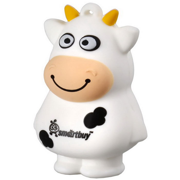 SmartBuy Wild Series Cow 8GB USB-накопительSB8GBCowФлеш-накопитель SmartBuy Wild Series Cow 8GB предназначен для долговременного хранения и переноса данных и совместим с любым считывающим устройством, которое оснащено USB-портом. Накопитель имеет оригинальный дизайн в виде забавной коровы и доставит много веселых минут пользователям.