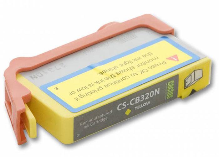 Cactus CS-CB320N, Yellow струйный картридж для HP PhotoSmart B8553/C5383/C6383/D5463/5510 заправка cactus 178n cs rk cb317 320 для hp photosmart b8553 c5383 c6383 d5463 5510 5515 6510 6515 4x30мл цветной