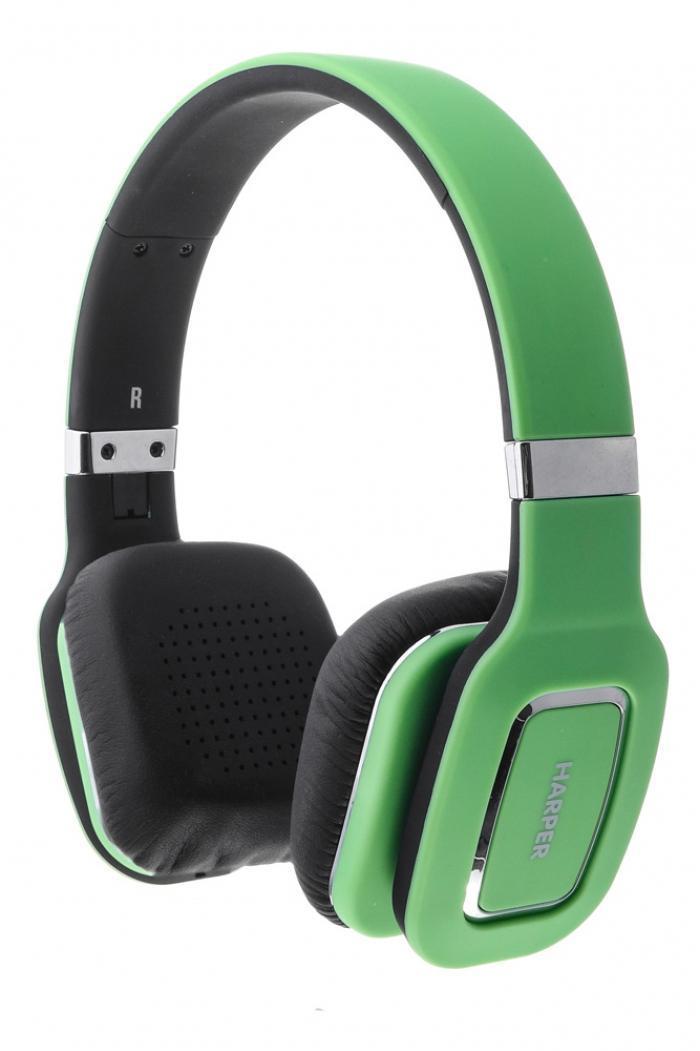 Harper HB-402, Green наушникиH00000467Bluetooth Стерео Наушники с Микрофоном Складная конструкция Чистый звук с кабелем или без