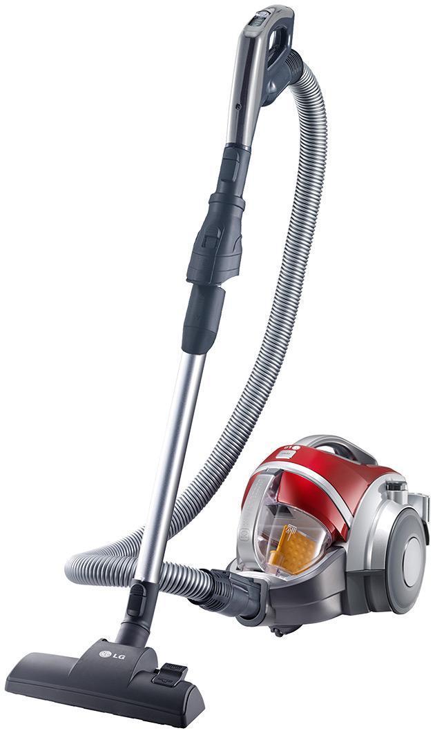 LG VK88504HUG пылесосVK88504HUGПылесос LG не только делает пол Вашей комнаты чистым, но и эффективно убирает пыль и волосы с ковра с помощью вращающейся турбо-щетки (Turbine Brush). Система Компрессор использует уникальную компрессионную лопасть, которая спрессовывает попадающую в контейнер пыль. Это позволяет вместить до 3 раз больше пыли по сравнению с моделями без Компрессора, и легко выбросить плотные спрессованные брикеты.Компания LG предоставляет 10-летнюю гарантию на систему прессования пыли Kompressor(контейнер, лопасть, механизм вращения, мотор RotaBlade)*. Также на каждый пылесос распространяется 1 год полного гарантийного обслуживания. Система фильтрации пыли Турбо Циклон обеспечивает постоянно высокую мощность всасывани.делая процесс фильтрации и компрессии пыли более эффективным. Воздушно-пылевой поток попадая в систему Турбо Циклон делится на два потока: пыль отделяется от воздуха. При этом поток пыли попадает в отдельный контейнер, где пыль прессуется в брикеты, а воздушный поток свободно проходит дальше через систему фильтрации, обеспечивая свежий воздух на выходе. Кроме того, уникальная структура пылесосов LG с системой Компрессор помогает сохранять высокую эффективность уборки, так как в отличие от других моделей пылесосов система фильтрации в них находится отдельно от пылесборника, что значительно увеличивает эффективность работы и избавляет Вас от грязной работы по очистке фильтра. С помощью щелевой насадк. Вы с легкостью проведете уборку даже в труднодоступных местах, например, в углах комнаты.