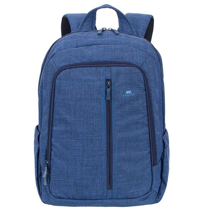 Riva 7560 рюкзак для ноутбука 15,6, BlueRivaCase 7560 blueСтильный городской рюкзак для ноутбука Riva 7560 изготовлен из высококачественной водоотталкивающей ткани. Легкая конструкция с утолщенными стенками создана для защиты ноутбука от случайных ударов и царапин, а также от пыли и влаги. Основное отделение с вертикальной загрузкой имеет мягкие стенки и ремень для надежной фиксации ноутбука до 15.6.Рюкзак оборудован также внутренним отделением для планшета до 10.1. Внешний передний карман на молнии для хранения аксессуаров также имеет панель-органайзер для визитных карт, флэш-накопителей, смартфона, а два боковых кармана служат для размещения емкостей с водой. Двойная застежка молния обеспечивает удобный доступ к устройству. Мягкая ручка для переноски и наплечные ремни со смягчающими подкладками помогут чувствовать себя комфортно в самом долгом путешествии. Специальная система крепления ремешков на липучке закрепляет их и создает дополнительное удобство.