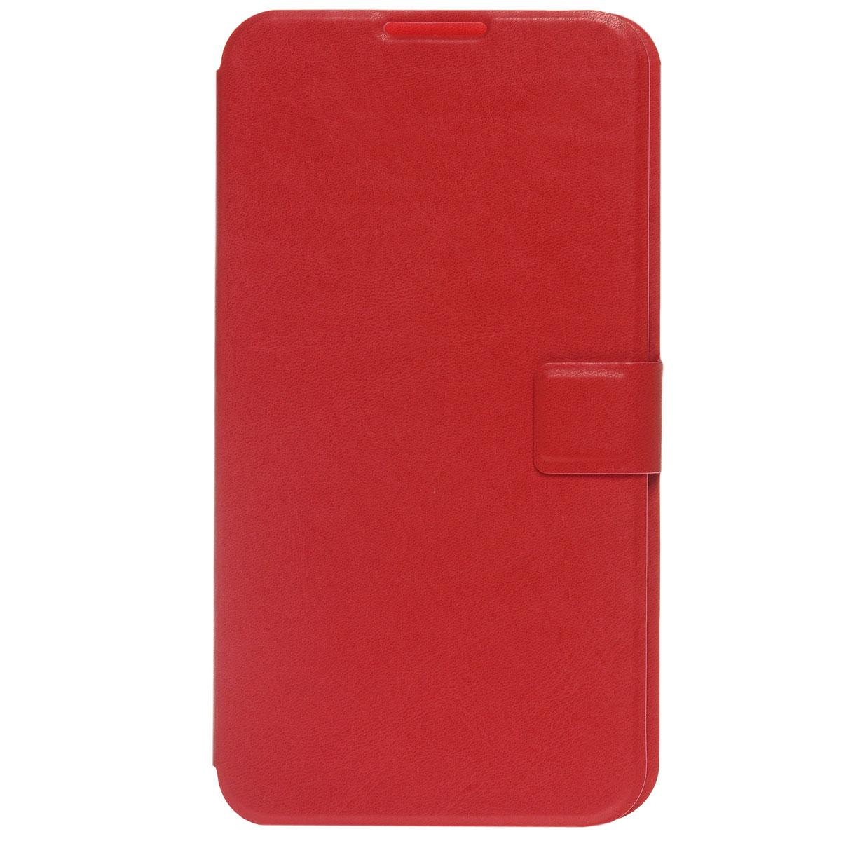 Ecostyle Shell универсальный чехол для телефонов с экраном 5.6-6, RedESH-B-UNI56-REDEcostyle Shell - универсальный чехол-книжка, который надежно защитит ваш телефон от механических повреждений, грязи и пыли. Конструкция чехла обеспечивает свободный доступ к разъемам, камере и основным функциям смартфона. Мягкая внутренняя поверхность защищает экран устройства от царапин.